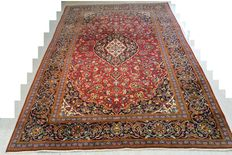 Beautiful look Persian carpet Kaschan 314 x 210 cm End of the 20th century