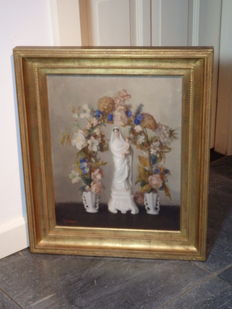 Lovely large painting of Mary - BELGIAN KEMPEN - Mid 20th century