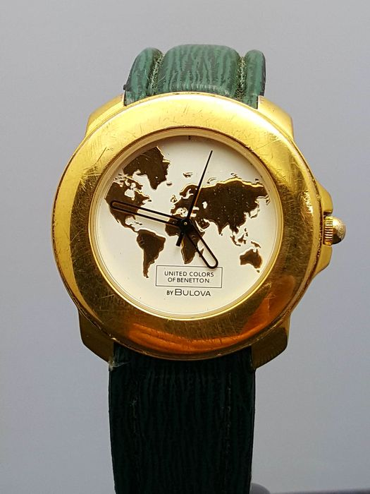 Bulova united colors of benetton wristwatch 1980s catawiki for Benetton watches