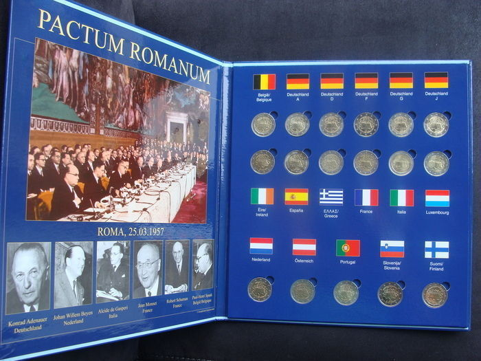 Europe - 2 Euro 2007 'Treaty of Rome' (17 different) in folder