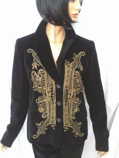 Christian Lacroix – Suit with jacket and trousers with 'angel's wing' embroidery.