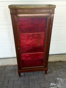 A Louis XVI style mahogany display cabinet - probably France - approx. 1880