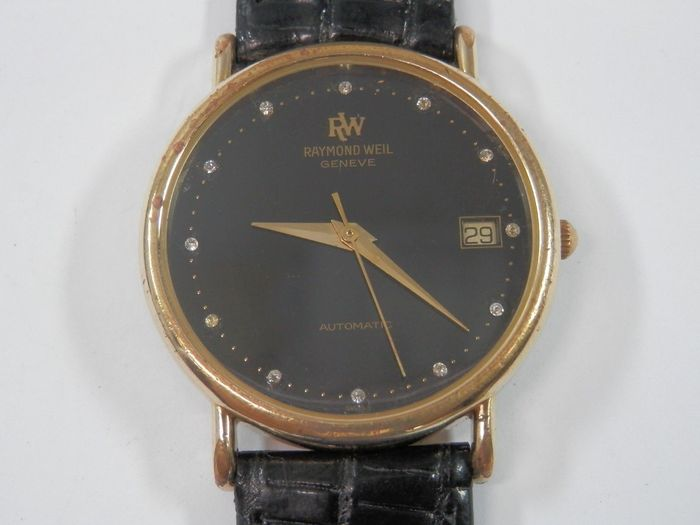 RAYMOND WEIL - Unisex - with diamond decorations - with case - Swiss, 1970-1980- no reserve price