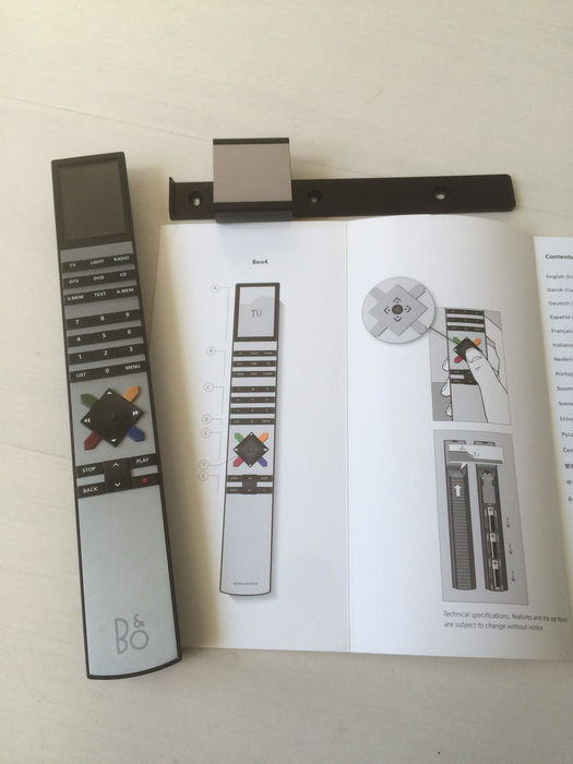 Bang and Olufsen beo 4 remote control with joystick and B&O LOGO.