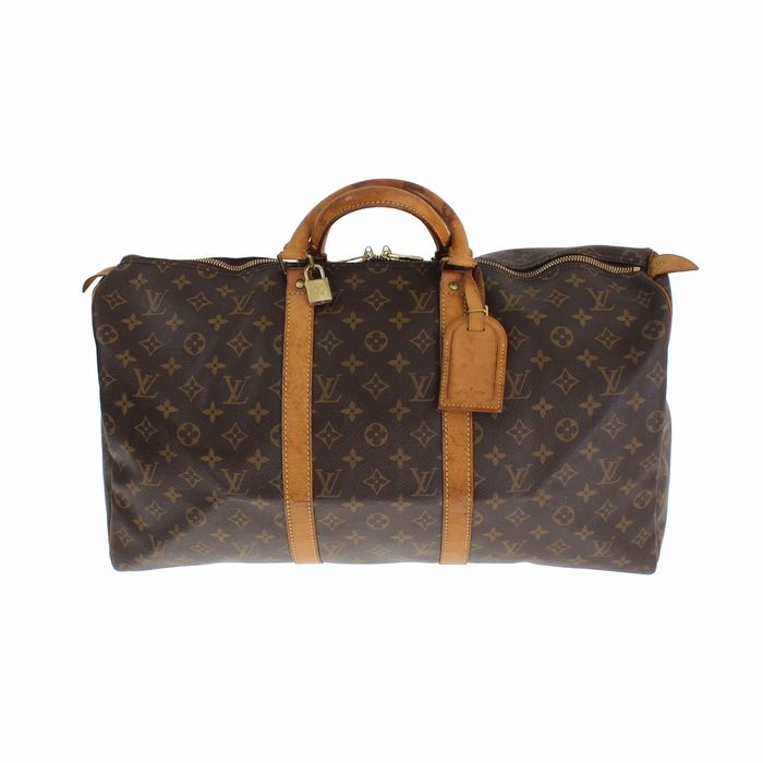 louis vuitton monogram keepall 50 reisetasche mit monogramm catawiki. Black Bedroom Furniture Sets. Home Design Ideas