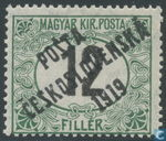 Hungarian porto with overprint