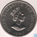 "Alderney 2 Pound 1990 ""90th Anniversary of the Queen Mother"""