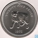 "Isle of Man 25 pence 1975 ""Manx Cat"""