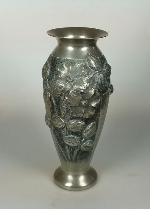 L Rozay Art Deco Pewter Vase Catawiki