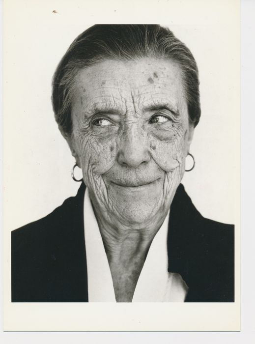 LOUISE BOURGEOIS,1991 by HERB RITTS  Kunst-Postkarte