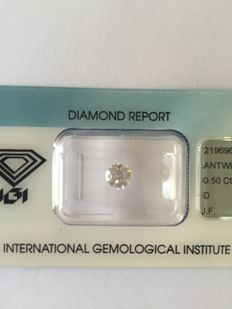 0.50 ct Brilliant cut diamond, D IF.