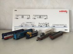 Märklin H0 - 4863 - US freight carriage set II