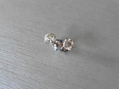 18k Diamond Stud Earrings - 0.66ct I, SI1