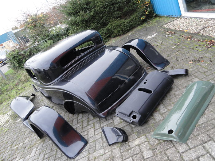 Body kit voor ford 1932 style three window coupe hotrod for 1932 ford 5 window coupe steel body kits