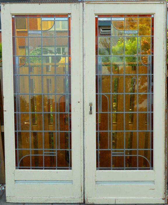 Art Deco Sliding Door With Stained Glass Catawiki