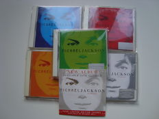 5 first edition Michael Jackson Invincible CD's with Sony info sheet & Promo CD Single