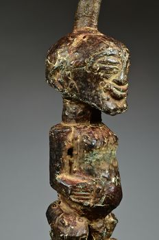 Rare and old Nkishi metal covered - SONGYE - D. R. Congo