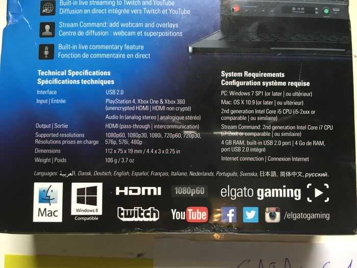Elgato Game Capture HD 60 - capture streams from PS4, XBOX