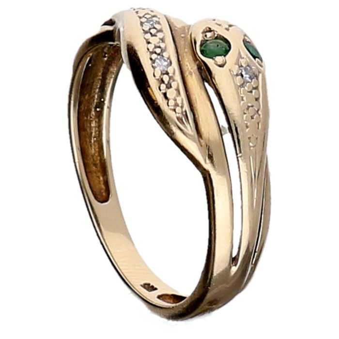bague or forme serpent