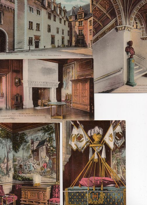 France 175 vintage postcards + 200 semi-modern; with lively activity - with trams - etc