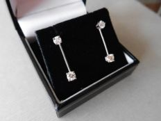 18k Gold Diamond Drop-Style Earrings – 0.80ct  I-J, SI2
