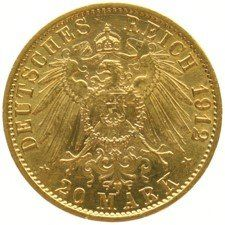 Germany (Prussia) – 20 Mark 1912A – Wilhelm II – gold