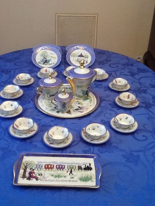 "Tea/coffee set ""the lovers of Peynet"""