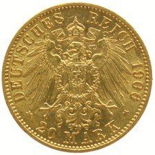 Germany (Prussia) - 20 Mark 1906A - Wilhelm II - gold