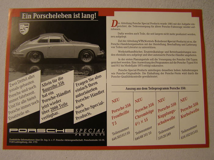 A Lot Of Years Porsche Memorabilia And Other Brochures Catawiki - Porsche vts