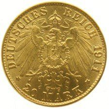 Germany (Prussia) - 20 Mark 1911A - Wilhelm II - gold