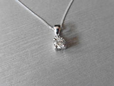 Platinum Diamond Pendant – 0.50ct  F, SI1