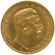 Germany – Prussia 20 Mark 1908A – gold