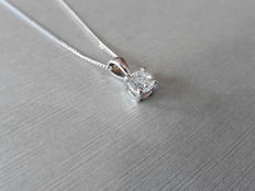 Platinum diamond pendant and chain – 0.70 ct
