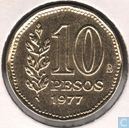 "Argentinien 10 peso 1977 ""200th Anniversary of Admiral G. Brown"""