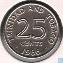 Trinidad and Tobago 25 cents 1966