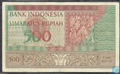 Indonesië (P47a1) 500 Rup.