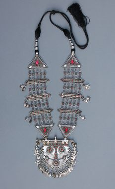 Antique Huge Islamic Persian Eastern Baluchi Silver Necklace – The silver part of the necklace weighs 250 g.