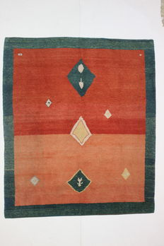 Rare GABBEH BAYHAN carpet, Turkey, 20th century, 265 x 226 cm.