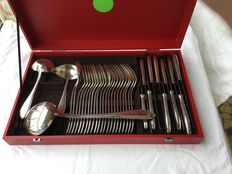 Silver plated cutlery set,  36 pieces, beatiful shine, France, early 19th century