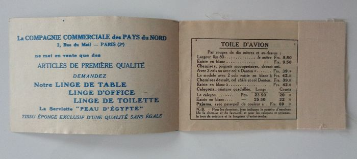 France 1926 Stamp Booklets Of Stamps Type Semeuse Cameo