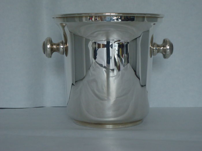 Silver Ice Bucket in English Style, Italy, 20th c