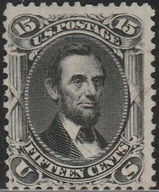 United States of America 1866 - President Lincoln's effigy - SCOTT 77.