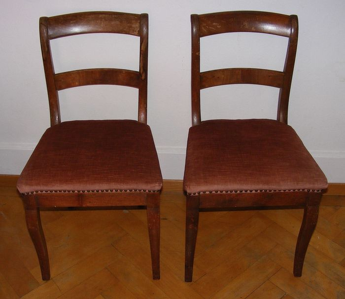 2 Biedermeier Style Chairs, 19th Cent.