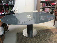 Designer unknown – Glass conference table