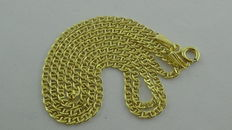 Gold necklace in 14 kt, 42.5 cm
