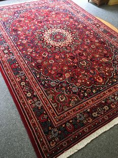 Stunning original hand-knotted Persian MOUD with plant-based highland lambswool – In new condition, approx. 203 x 290 cm – PERSIA