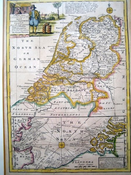 Pays-Bas, Noordzee; Emanuel Bowen - A New and Accurate Map of the Seven United Provinces - 1751-1760