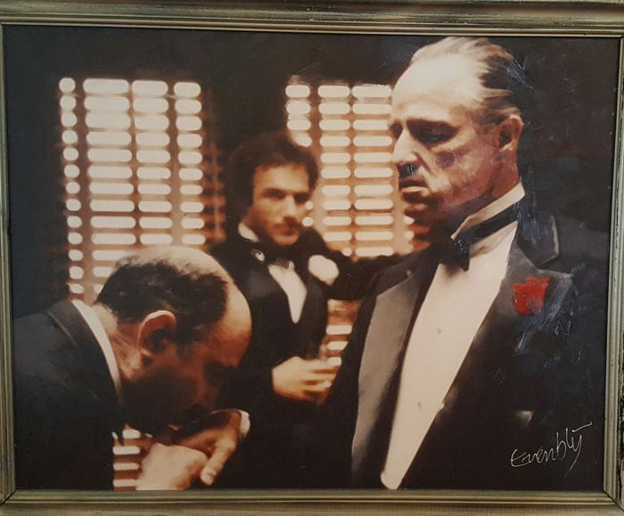 The godfather handkiss giclee 100x80 cm kunstenaar for Stephan evenblij
