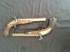 set of English Antique 19th century duelling Pistols