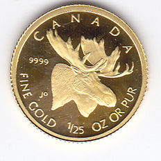 "Canada – 50 Cents 2004 ""Moose"" – 1/25 oz gold"